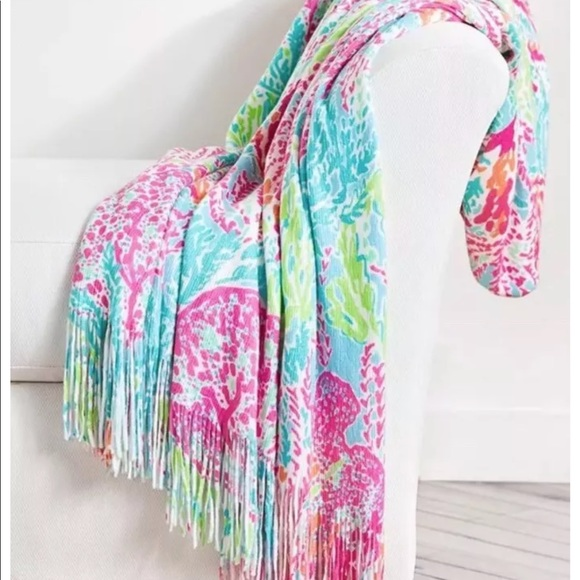 2c8728bfa88464 Lilly Pulitzer Other - Lily Pulitzer Pottery Barn Throw in Let's Cha Cha